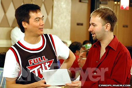 John Juanda and Daniel Negreanu at the 2005 WSOP