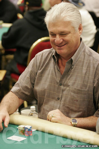 Barry Shulman is smiling after final tabling the WSOPE main event.