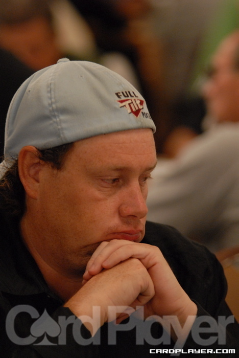 Gavin Smith is currently second in chips at the WPT Southern Poker Championship.
