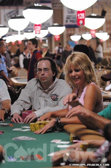 Kessler and fellow poker pro Cindy Violette at the 2006 WSOP