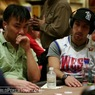 Kido Pham (left) and Alec Torelli on Day 1a of the WPT World Championship
