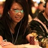 Liz Lieu on Day 2 of the WPT Doyle Brunson Five Diamond World Poker Classic