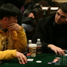 Henry Tran (left) stares down Noah Schwartz (right) on Day 1a of the WPT Tunica World Poker Open