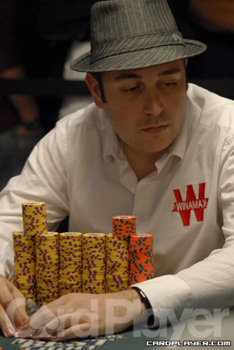 Day 1A Chip leader Nicolas Levi
