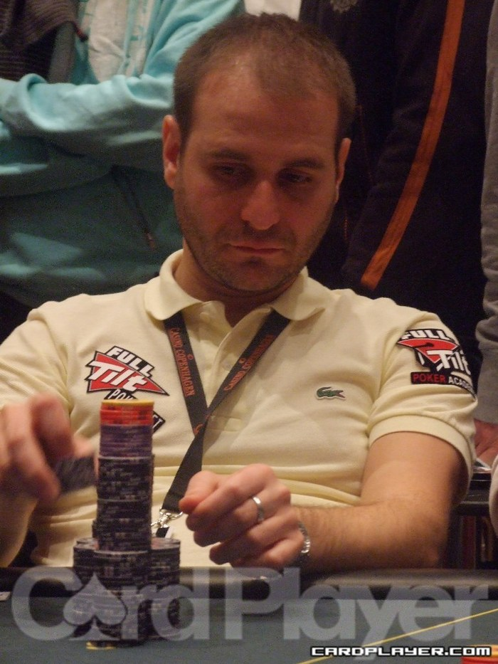 Roberto Romanello finished Day 2 second in chips.