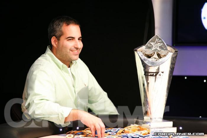 Matt Glantz after winning the EPT London High Roller Event