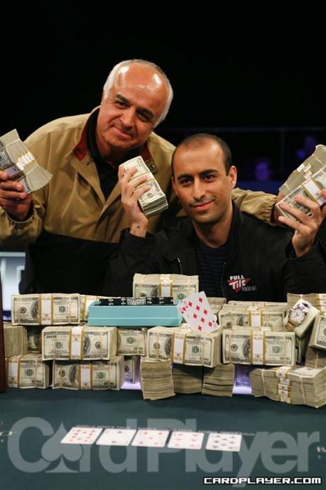 Daniel Alaei and his Father Celebrate his WPT Win