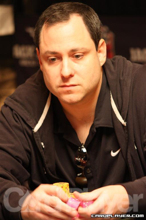 David Baker busted during the Second Level of Play on Day 4