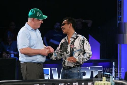 Dan Harrington and David Pham at thte 2007 Legends final table