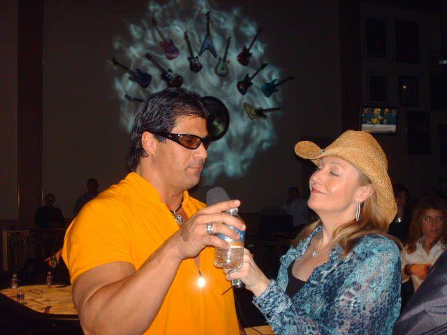 Jose Canseco and Pam Brunson