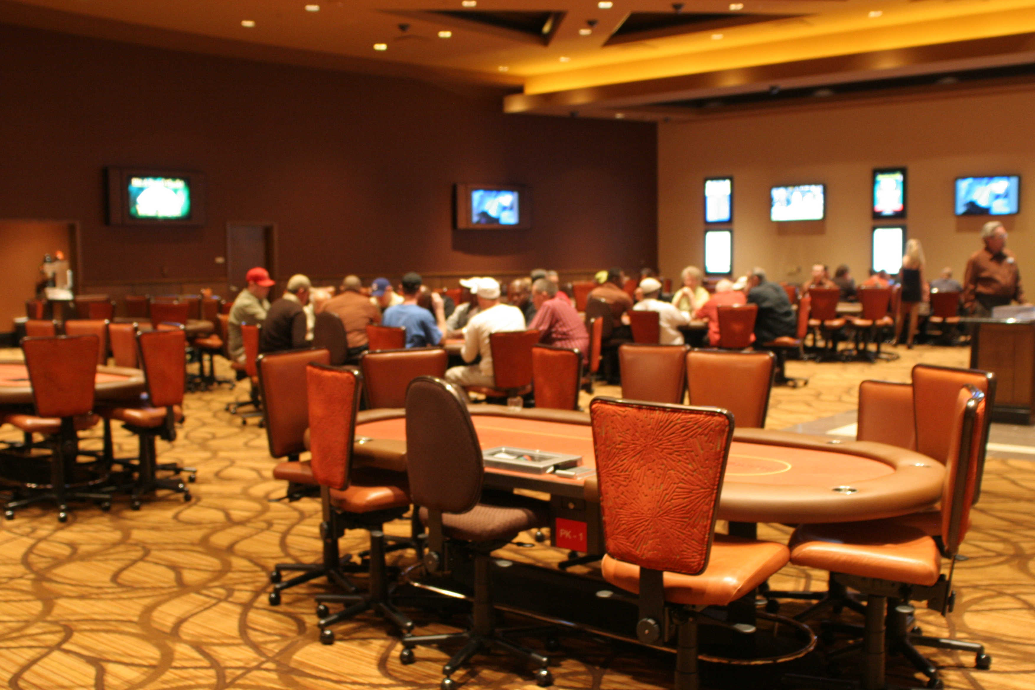 The Aliante Poker Room Features 12 Tables.