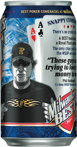 Phil Hellmuth Milwaukee's Best Can
