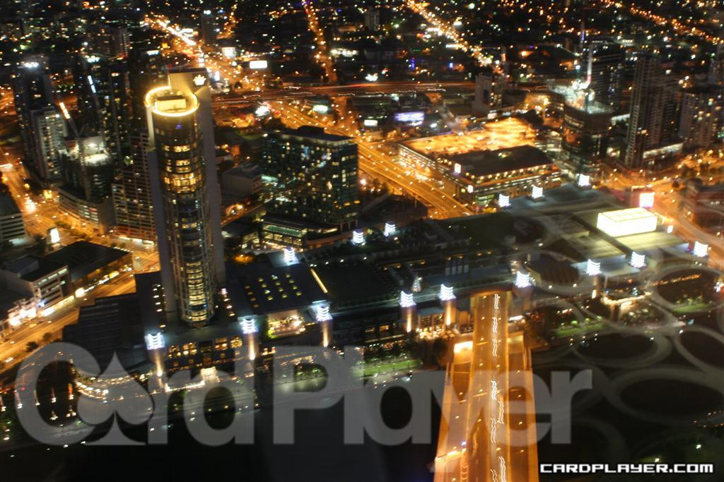 Crown Casino at Night from the Air