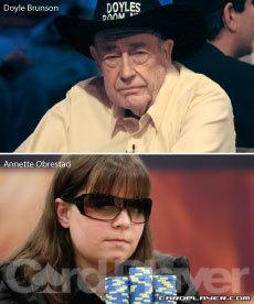 Doyle Brunson and Annette Obrestad