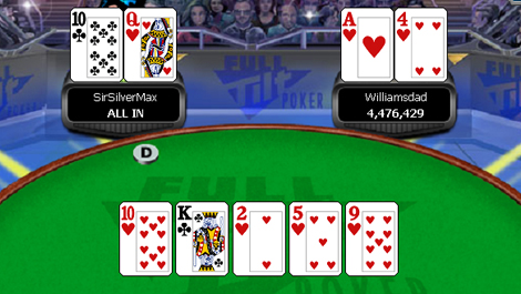 ace high flush poker game