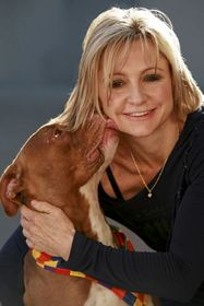Jennifer Harman and her dog