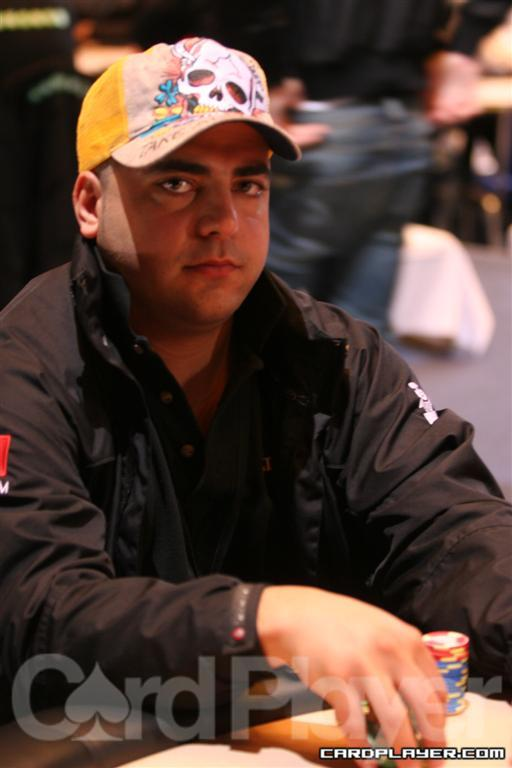 Marc Karam one of the chip leaders of Day 1B