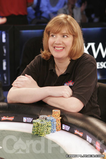 Kathy Liebert at a WPT final table