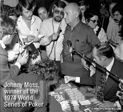 Джонни Мосс (Johnny Moss) победитель World Series of Poker 1974