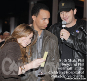 Beth Shak, Phil Ivey, and Phil Hellmuth