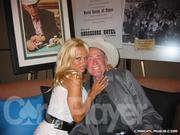 "Pamela Anderson and Doyle Brunson ""wed"" at the Rio Las Vegas"