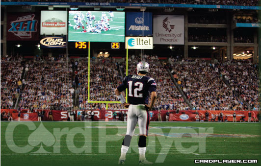 New England Patriot quarterback Tom Brady