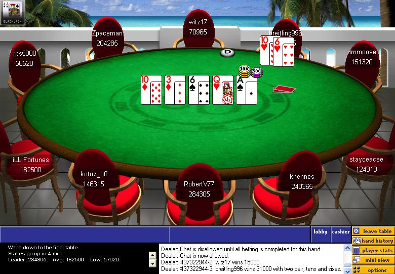 2006 UBOC Event No. 1 Final Table